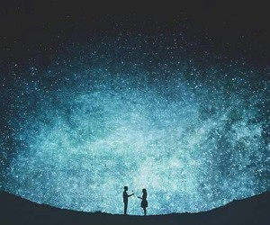 love, stars, and couple image