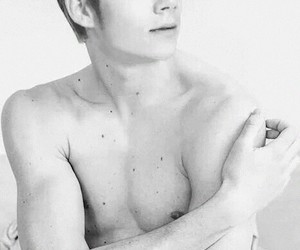 black and white, dylan o'brien, and boy image