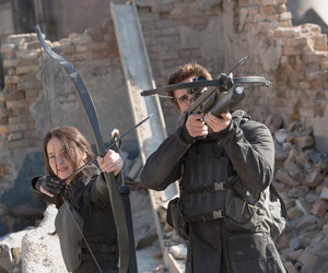 mockingjay, gale, and katniss image