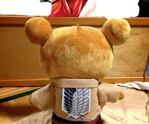 anime, shingeki no kyojin, and bear image