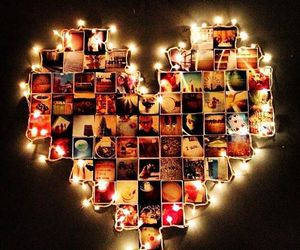 heart, light, and photo image