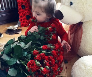 baby, beautiful, and rose image