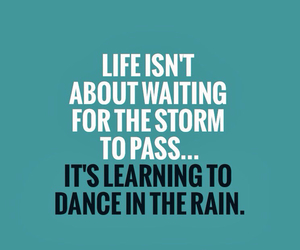 quote, rain, and life image