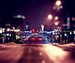 city, streets, and lights image