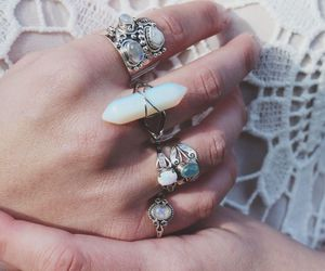 rings, ring, and crystal image
