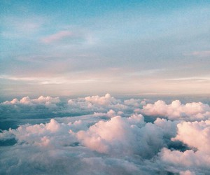 sky, clouds, and hipster image
