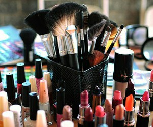 make up, lipstick, and makeup image