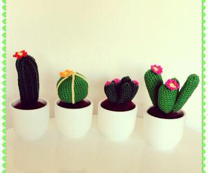 cactus, greens, and chrochet image