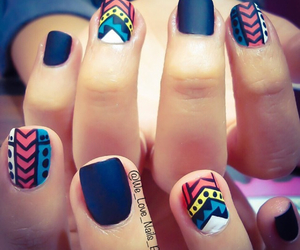 aztec, colors, and nails image