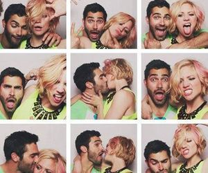 couple, tyler hoechlin, and brittany snow image