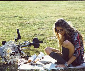girl and bike image