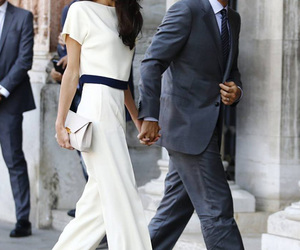 couple, george clooney, and style image