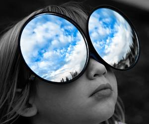 sky, glasses, and blue image