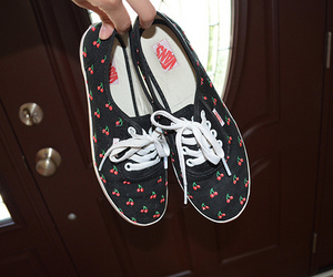 vans, shoes, and cherry image