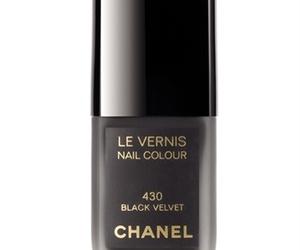 black, chanel, and nail polish image