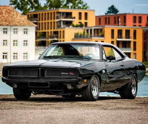 1969, car, and dodge charger r t image