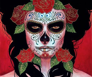 skull, dia de muertos, and catrina image