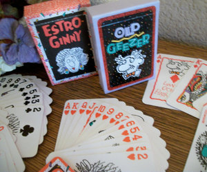 playing cards gift cards, novelty birthday gift, and estro ginny image