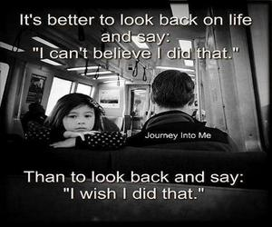 I WISH, life, and look back image
