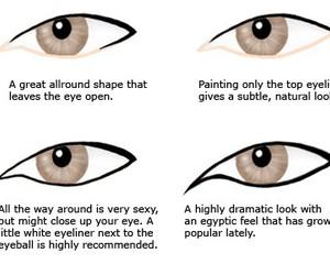 eye liner and makeup image