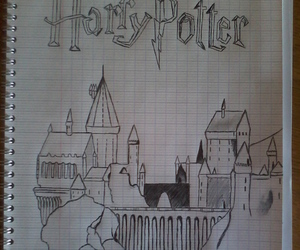 draw, harry potter, and hogwarts image