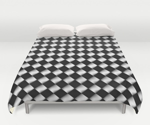 bedding, black and white, and dorm image