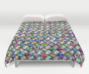 bedding, pattern, and rainbow image