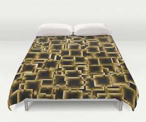 bedding, gold, and pattern image