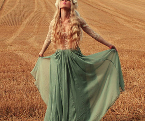 blonde, green, and field image