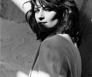 black and white, charlotte rampling, and vogue image