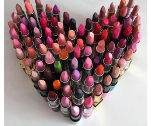 lipstick, makeup, and heart image