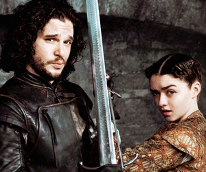 game of thrones, jon snow, and arya stark image
