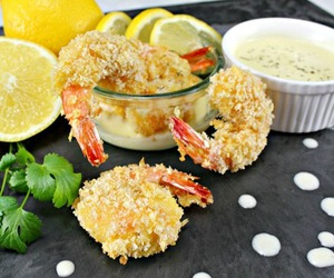baked, panko, and seafood image