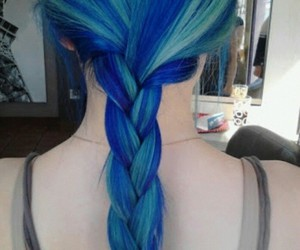 beauty, blue hair, and tumblr girl image