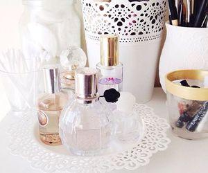 make up, girl, and perfume image