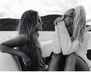 boat, girls, and sunglasses image