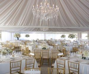 wedding, white, and reception image