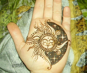 celestial, cosmos, and henna image