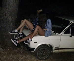 friendship, girl, and night image