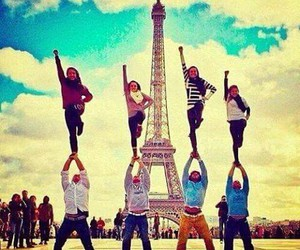 paris, cheer, and girl image