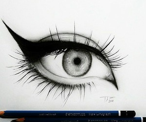 eyes, drawing, and eye image