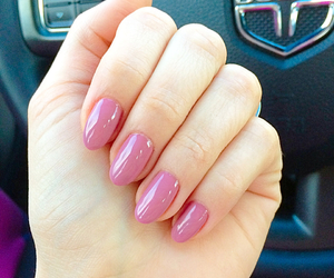 hand, nails, and pink love image