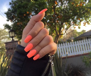 nails, orange, and neon image