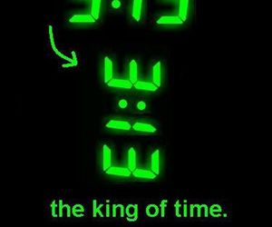 time, king, and funny image