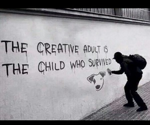 creative, child, and quote image