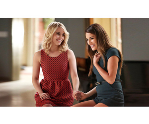 glee, faberry, and lea michele image