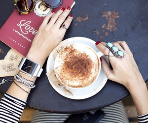 coffee, fashion, and indie image