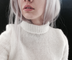 girl, hair, and white image