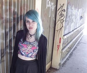 alt girl, dyed hair, and alt model image