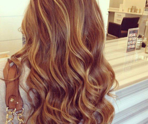 beautiful, caramel, and curly image